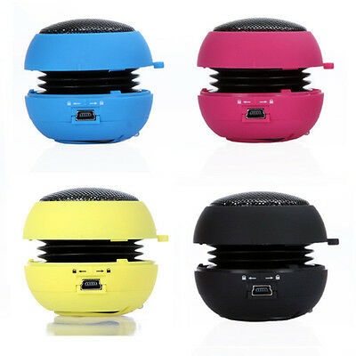 Mini Portable Hamburger Speaker For Smartphone Tablet Laptop PC MP3 Colorful