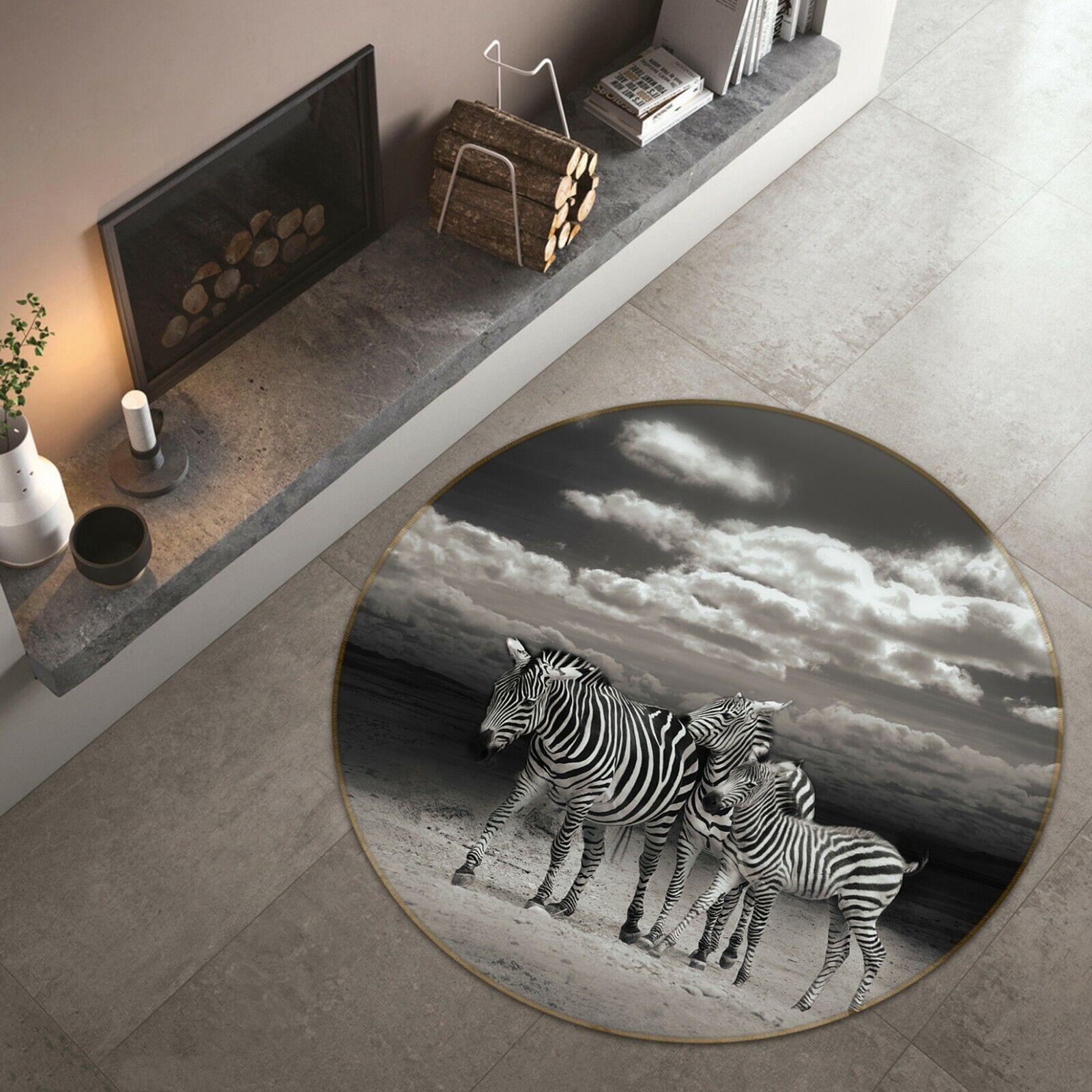 3D C97 CIELO Zebra Animale tappetino antiscivolo tappeto rossoondo elegante Tappeto Wendy