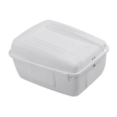 Painted White Police Tour Pack Pak Trunk Saddlebag For Harley Electra Glide FLHP