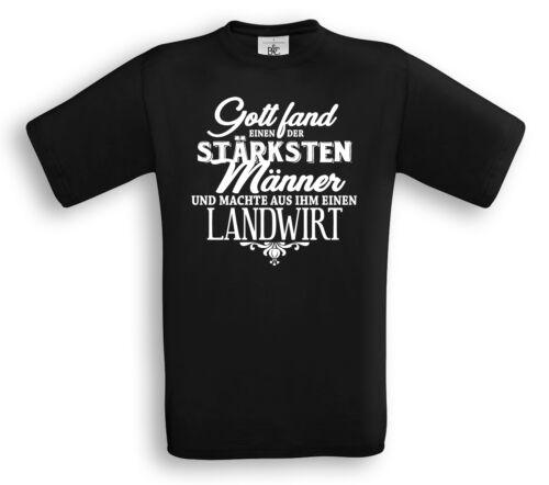 DIE STÄRKSTEN MÄNNER Beruf Funshirt Geschenk Bauer Felder LANDWIRT T-Shirt