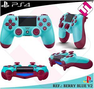 MANDO-100-ORIGINAL-SONY-PS4-DUALSHOCK-COLOR-BERRY-BLUE-V2-PLAYSTATION-4-GENUINE