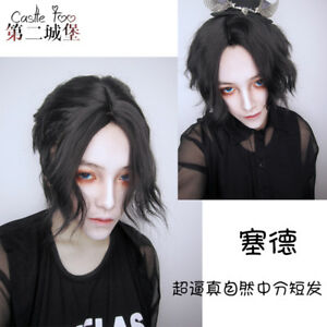 Harajuku Gothic Gay Curly Hair Everyday Wig Party Hairpiece Japanese Style Short Ebay