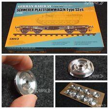 SabreModel 35A02 1/35 RAILWAY SCHWERER PLATTFORMWAGEN SSys(Metal Wheels Edition)