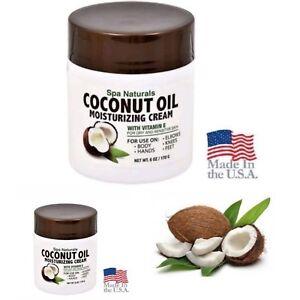 2X-Spa-Naturals-COCONUT-OIL-MOISTURIZING-CREAM-Vitamin-E-for-Dry-Skin-6oz