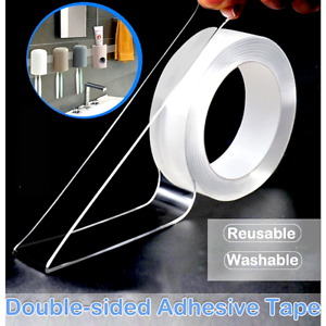 Nano Double-Sided Tape, Grip Clear Adhesive Washable, Traceless Strong Removable