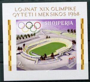 Albanien MiNr. Block 33 B postfrisch MNH Olympia Mexiko 1968 (Oly1221