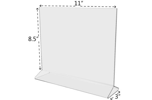 "11""W x 8.5""H Announcement Double-sided Table Sign Holder Table Tent Lot of 12"