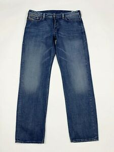Diesel-jeans-rayan-uomo-usato-straight-fit-W38-L34-tg-52-denim-boyfriend-T6148