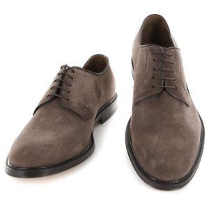 Neuf Finamore Napoli Daim Marron Chaussures - à Lacets - 7.5/6.5 - (5093DAINO)