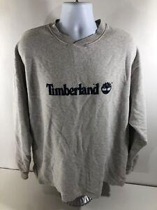 Vintage-Timberland-Weathergear-Men-039-s-Spellout-Logo-Gray-Crew-Neck-Sweatshirt-XL