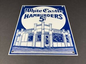 VINTAGE-WHITE-CASTLE-FAST-FOOD-SERVICE-PORCELAIN-SIGN-12-034-X-9-034-GAS-OIL-RESTAURANT