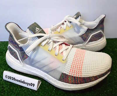 Details about Adidas Men's Ultraboost 19 Pride Running Shoes, EF3675, White/Scarlet, Sizes