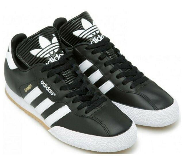 adidas Originals Samba Super Trainers for Men, Size UK 8 - Black/White