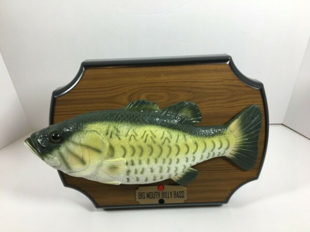 Gemmy Billy Bass Big Mouth 1999 Singing Fish Don't Worry Be Happy FLAW Video