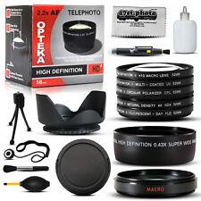 10 Piece Professional Lens Package Sony Alpha DSLR-A65 DSLR-A77 A100 A700 A350