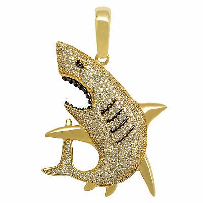 Shark Charm Pendant 10k Solid Gold Shark Pendant 10k Solid Yellow Gold