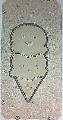 Flexible Resin Mold Cute Kawaii Ice Cream Cone Craft Supplies