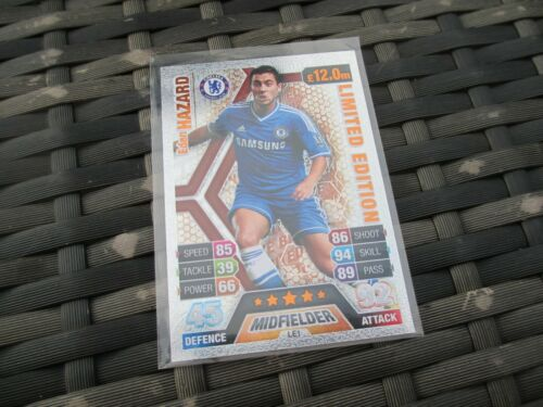 Match Attax ataque 2013//14 13//14 LE1 tarjeta de edición limitada de bronce Eden Hazard