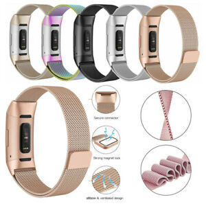 For-Fitbit-Charge-3-Strap-Stainless-Steel-Magnet-Strap-Replacement-Milanese-Band