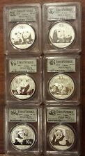 6 coins 2010-2015 Silver Panda PCGS MS70 First Strike China 10 Yuan complete set