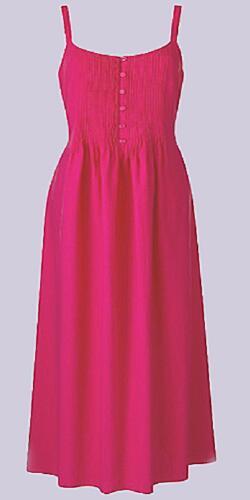 NEW STRAWBERRY PINK Pintuck /& Button Detail Cotton /& Linen Dress Size 12 /& 14