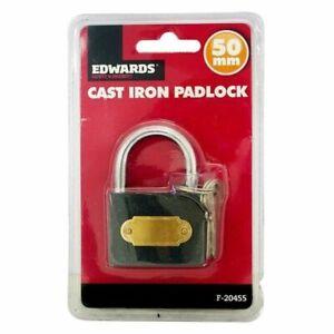 Guilty Gadgets Heavy Duty Waterproof Padlock 40mm Steel Home School Office Garage Workshop Sheds Lockers Gate Secure Lock 2 Keys Included