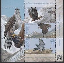 Birds Kyrgyzstan Kirgistan 2015 MNH** Mi. 834-836 Bl.74 Traditional Hunting