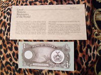 Great Historic Banknotes BIAFRA 1 POUND 1968 - 1969 P-5 UNC