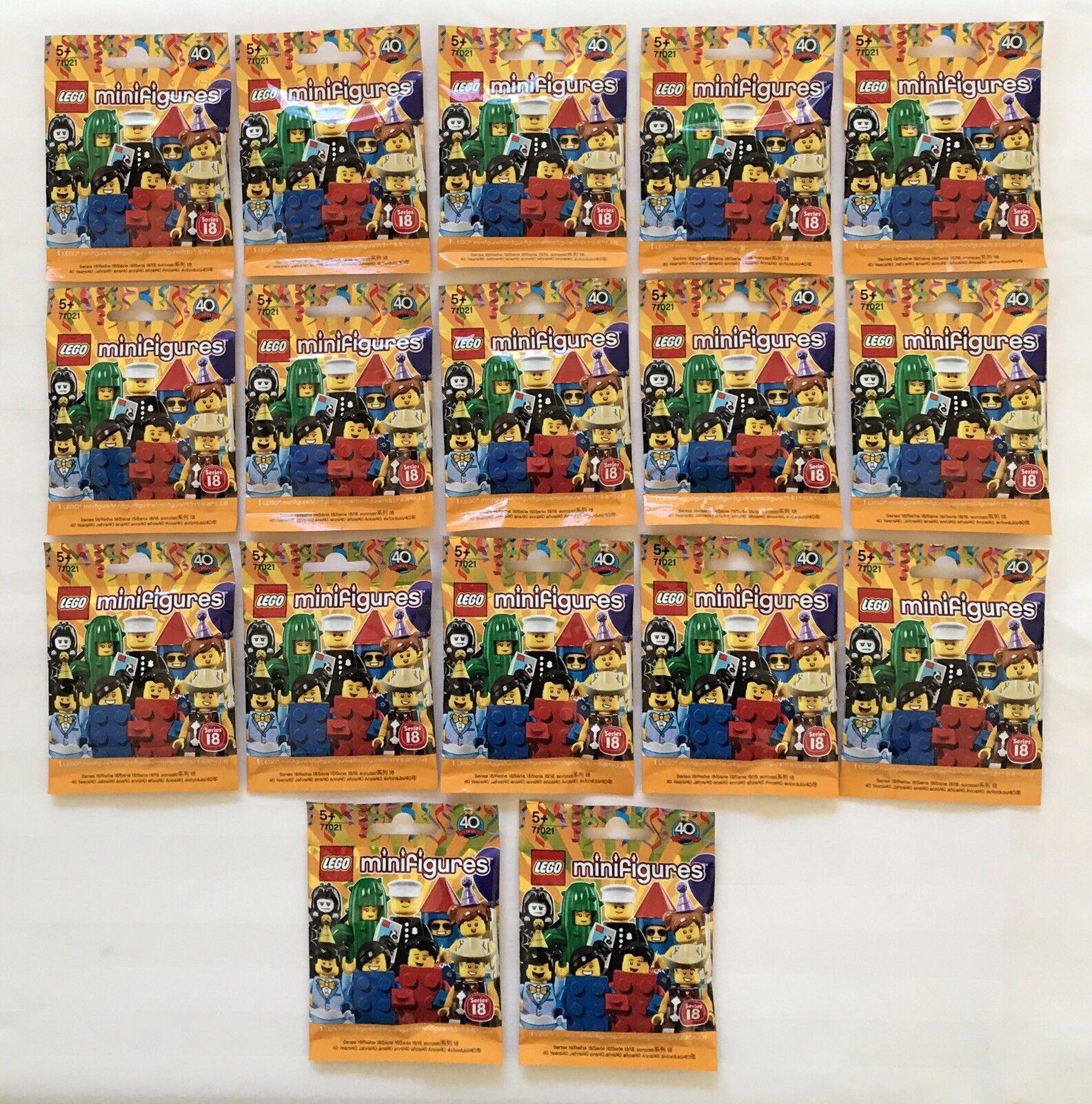 Lego Minifigures (71021) - Serie 18-juego completo de 17 Figuras-Sellado De Fábrica