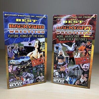 THE BEST OF BACKYARD WRESTLING Vol. 1 & 2 Set Tape Lot ...