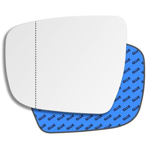 Lato Sinistro Grandangolo Specchio Vetro per Nissan Juke 2015-2019 0823 Las