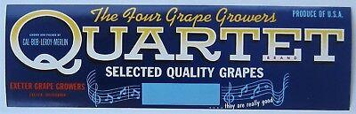 GOAT O/'Capro Grape Crate Label Fresno CA