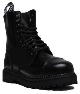 GRINDERS-CS-Black-Unisex-10-Hole-Bull-Dog-Leather-Safety-Steel-Toe-Derby-Boots