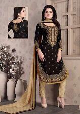 Elegant Crepe Designer Printed Unstitched Dress Material Suit D.No SFD7011