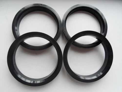4 Polycarbon Plastics hub centric rings vehicle side 66.1mm to rims side 76mm