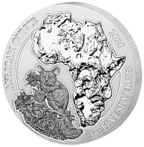 Rwanda Bushbaby 2020 1 oz Silver UNC African Ounce