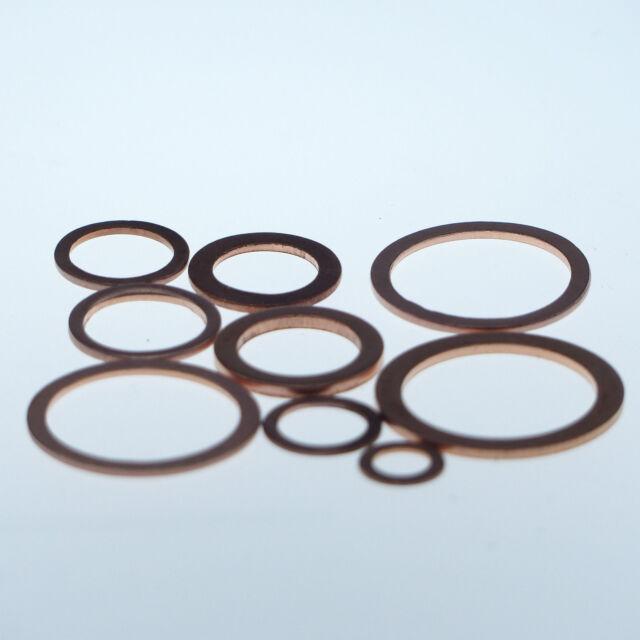 Dichtringe aus Kupfer  5x9x1 mm 25 Stück