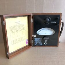 Vintage Cambridge Ammeter In Wooden Case - 1.0 Amp Scale