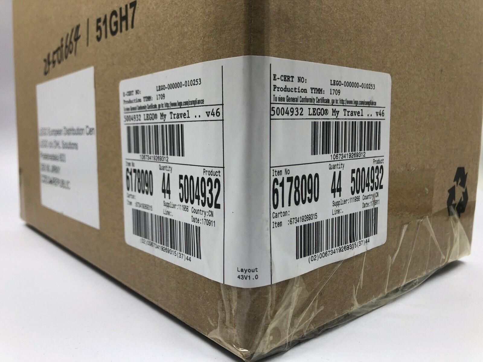 Lego Promo 5004932 Travel Building Suitcase x 44 pcs.  Master box 6178090