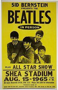 Music-Poster-Reprint-The-Beatles-at-Shea-Stadium-1965