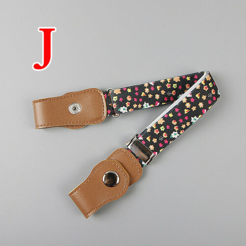 Fashion Kids Girls Jeans Elastic Adjustable Stretch Waist Belt Waistband Buckle