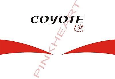 KZ coyote decal sticker graphic decals stickers rv camper trailer k-z kz lite