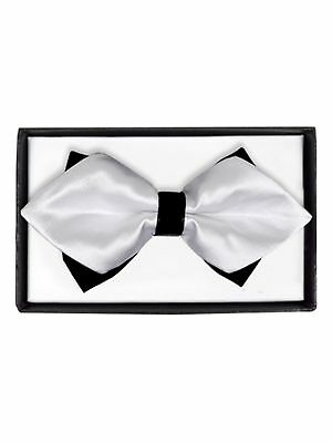 DBB3030-18 Mens Blue Geometric Diamond Tip Bow Tie