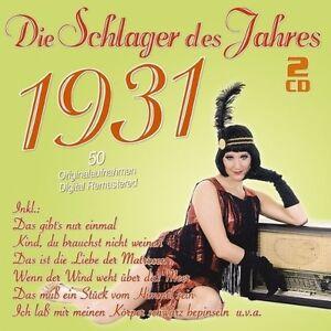 DIE-SCHLAGER-DES-JAHRES-1931-2-CD-NEU
