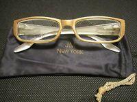 Jm York Reading Glasses +3.50 Champagne Gold W/crest Spring Hinge Joy Mangan
