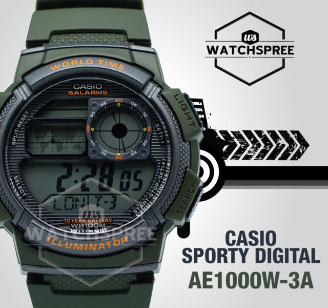 Casio ae1000w 3a digital map watch 10 year battery world time 5 casio ae1000w 3a digital map watch 10 year battery world time 5 alarms gumiabroncs Gallery