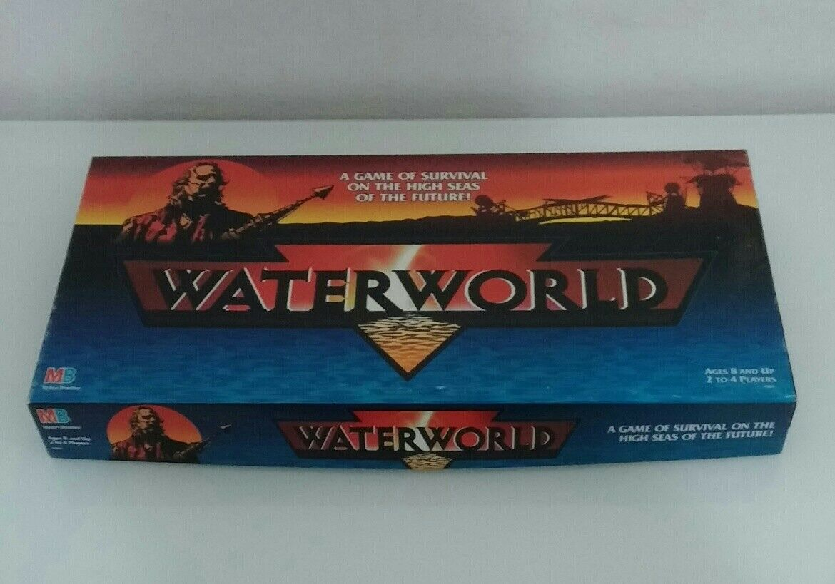 WATERWORLD MB Gioco BOARDGAME Nuovo introvabile Water world Kevin Costner NEW