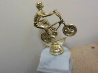 Trophy Bmx Bike Racing, About 6 High, With Engraving, Award