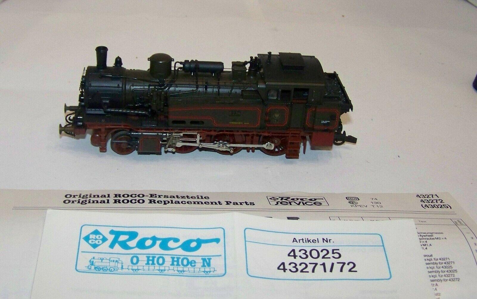 Roco H0 analoge Dampflok BR T12 T12 T12 KPEV 8234, aus Set 43025, lesen, XR7339X  | Zürich  dfdeca