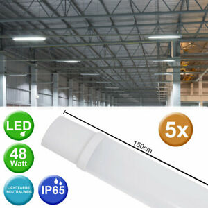 5er-Set-48W-Baignoires-Couvrir-Luminaires-Ultraslim-Industrie-Salles-Feucht-Raum